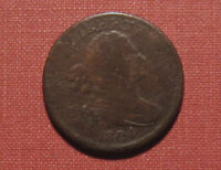 1804 CROSSLET WITH STEMS DRAPED BUST HALF CENT   MODERATE DE