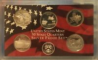 2004 SILVER PROOF STATE QUARTERS MINT SET W/ COA NO BOX