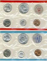 1962 SILVER MINT SET PHILADELPHIA & DENVER 90  SILVER 10 COI