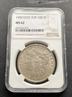 M13282- 1900-O/CC MORGAN DOLLAR NGC MINT STATE 62