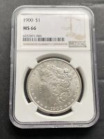 M13283- 1900 MORGAN DOLLAR NGC MINT STATE 66