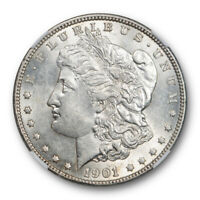 1901 $1 MORGAN DOLLAR NGC AU 58 ABOUT UNCIRCULATED EXCEPTIONAL STRIKE LUSTROUS