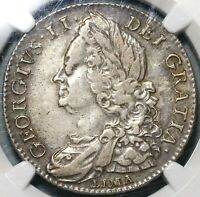 1746 NGC VF 35 GEORGE II 1/2 CROWN GREAT BRITAIN SPAIN LIMA COIN  20102301C
