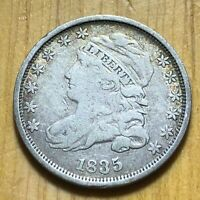1835 CAPPED BUST HALF DIME HIGHER GRADE  NO RESERVE