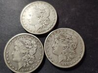 MORGAN SILVER DOLLARS 1882, 1885 AND 1886 -PACKAGE DEAL -CIRCULATED