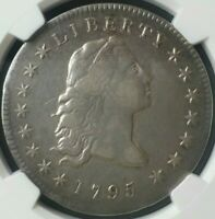 1795 $1 FLOWING HAIR SILVER DOLLAR NGC EXTRA FINE  DETAILS CLEANED