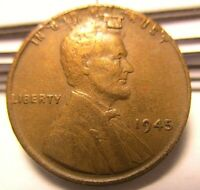 1945 LINCOLN WHEAT CENT - ERROR -  MINT ERROR COLLECTIBLE COIN