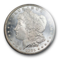 1885 CC $1 MORGAN DOLLAR PCGS MINT STATE 62 PL UNCIRCULATED PROOF LIKE CARSON CITY MINT