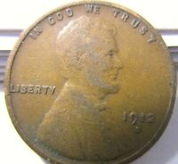 1912-S LINCOLN WHEAT CENT -  COLLECTIBLE COIN