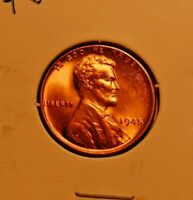 1945 P D S LINCOLN WHEAT CENTS  GEM UNCIRCULATED REDS  MS GRADES