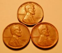 1937 P D S LINCOLN WHEAT CENTS 1937-P 1937-D 1937-S STRONG EXTRA FINE  TO AU COINS