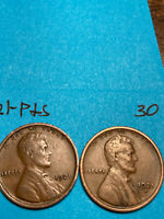 1921-S & 1921-P LINCOLN WHEAT CENT SET,  HIGH GRADE CONDITION COINS, SET 30