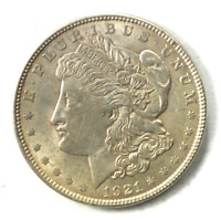 1921 $1 MORGAN SILVER ONE DOLLAR PHILADELPHIA VAM 27A WIDE INFREQUENT REEDS AU