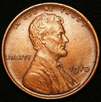 1910 LINCOLN WHEAT CENT, EXTRA FINE