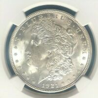 1921 VAM 41A NGC MINT STATE 63 MORGAN SILVER DOLLARGENE L HENRY LEGACY COLLECTION