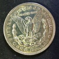 1921D US MORGAN SILVER DOLLAR, 1 OZ .900 SILVER, 26.73G, ABOUT UNCIRCULATED