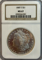 1880-S MORGAN SILVER DOLLAR NGC MINT STATE 67