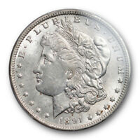 1891 O $1 MORGAN DOLLAR PCGS MINT STATE 62 UNCIRCULATED NEW ORLEANS MINT CERT1206