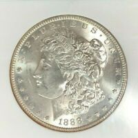 1888-S MORGAN SILVER DOLLAR - NGC MINT STATE 62 BEAUTIFUL COIN REF41-003