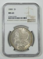 1880 MORGAN DOLLAR CERTIFIED NGC MINT STATE 63 SILVER $