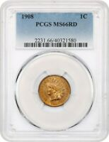 1908 1C PCGS MINT STATE 66 RD - GORGEOUS TYPE COIN - INDIAN CENT - GORGEOUS TYPE COIN