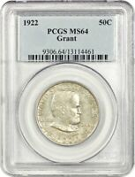 1922 GRANT 50C PCGS MINT STATE 64 - POPULAR COMMEMORATIVE ISSUE