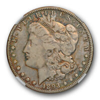 1893 O $1 MORGAN DOLLAR NGC F 15 FINE TO  FINE BETTER DATE TONED COIN