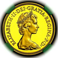 1984 QUEEN ELIZABETH II GREAT BRITAIN GOLD PROOF SOVEREIGN NGC PF69 ULTRA CAMEO
