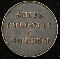 CANADA BANK TOKEN NIGHT   GORGEOUS AU NO DATE SHIPS COLONIES & COMMERCE BR 1000