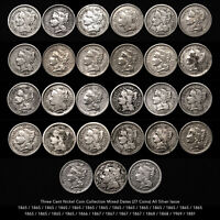 THREE CENT NICKEL  27 PIECE COIN COLLECTION  MIXED DATES CIVIL WAR TIME ISSUES