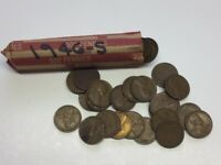 WWII  1946-S  SHELL CASE  ROLL OF CIRCULATED LINCOLN WHEAT CENTS