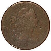 1798 U.S. DRAPED BUST LARGE ONE CENT COIN