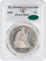 1858 $1 PCGS/CAC PR 65 EX: D.L. HANSEN COLLECTION -  PROOF-ONLY ISSUE
