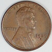 1929-D UNITED STATES LINCOLN WHEAT CENT PENNY - AU ABOUT UNCIRCULATED CONDITION