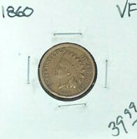 1860 INDIAN HEAD CENT  VF  COIN