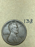 1916-S LINCOLN WHEAT CENT, LOW MINTAGE, BETTER CONDITION COIN, 138