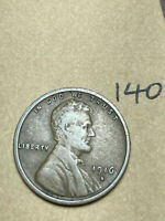1916-S LINCOLN WHEAT CENT, LOW MINTAGE, BETTER CONDITION COIN, 140
