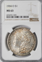 1904 O $1 MORGAN SILVER ONE DOLLAR US NEW ORLEANS NGC MINT STATE 63 VAM 35A