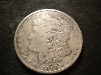 1895 O OR S VF DETAILS MORGAN SILVER DOLLAR REMOVED MINT MARK T2X-2