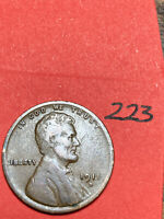 1911-D LINCOLN WHEAT CENT,  DATE, 223