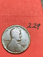 1911-D LINCOLN WHEAT CENT,  DATE, 229