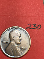 1911-D LINCOLN WHEAT CENT,  DATE, 230