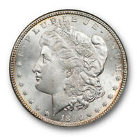 1890 CC $1 MORGAN DOLLAR NGC MINT STATE 63 UNCIRCULATED CARSON CITY MINT CAC APPROVED