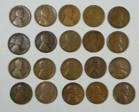 20-PIECE LOT X 1911-D LINCOLN/WHEAT EARS REVERSE CENTS CULL - FINE