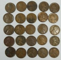 25-PIECE LOT X 1926-D LINCOLN/WHEAT EARS REVERSE CENTS CULL OR BETTER