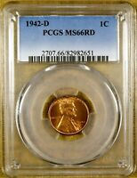 1942-D PCGS MINT STATE 66 RED LINCOLN CENT