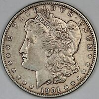 1901-S UNITED STATES MORGAN SILVER DOLLAR - ABOUT UNCIRCULATED CONDITION