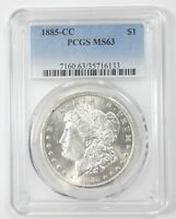 1885-CC MORGAN DOLLAR CERTIFIED PCGS MINT STATE 63  CARSON CITY SILVER DOLLAR