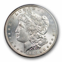 1888 S $1 MORGAN DOLLAR PCGS MINT STATE 63 UNCIRCULATED BETTER DATE BLAST WHITE