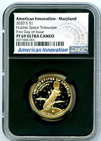 2020 S $1 MARYLAND NGC PF69 PROOF AMERICAN INNOVATION DOLLAR